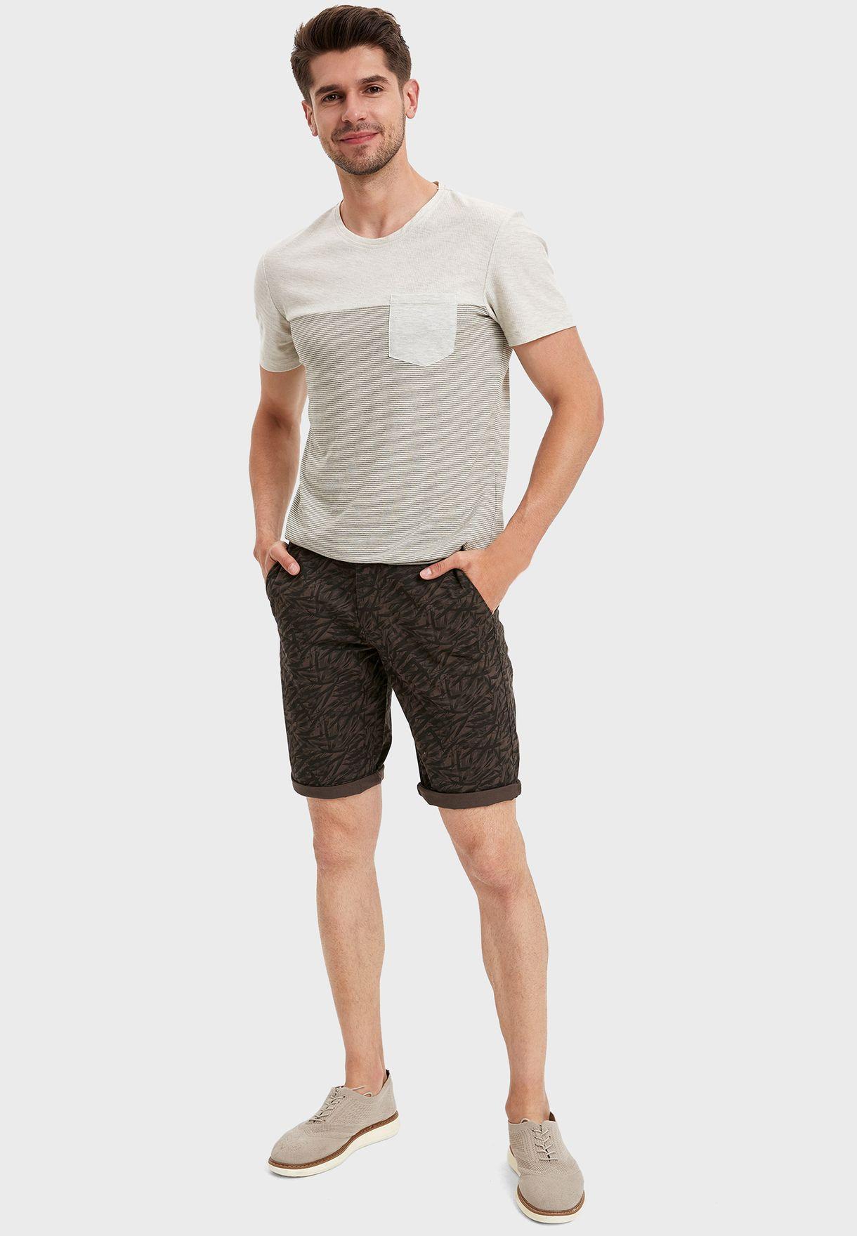 Graphic Chino Shorts