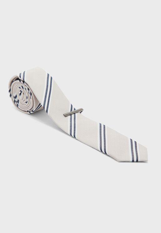 Connor Striped Tie Stripes