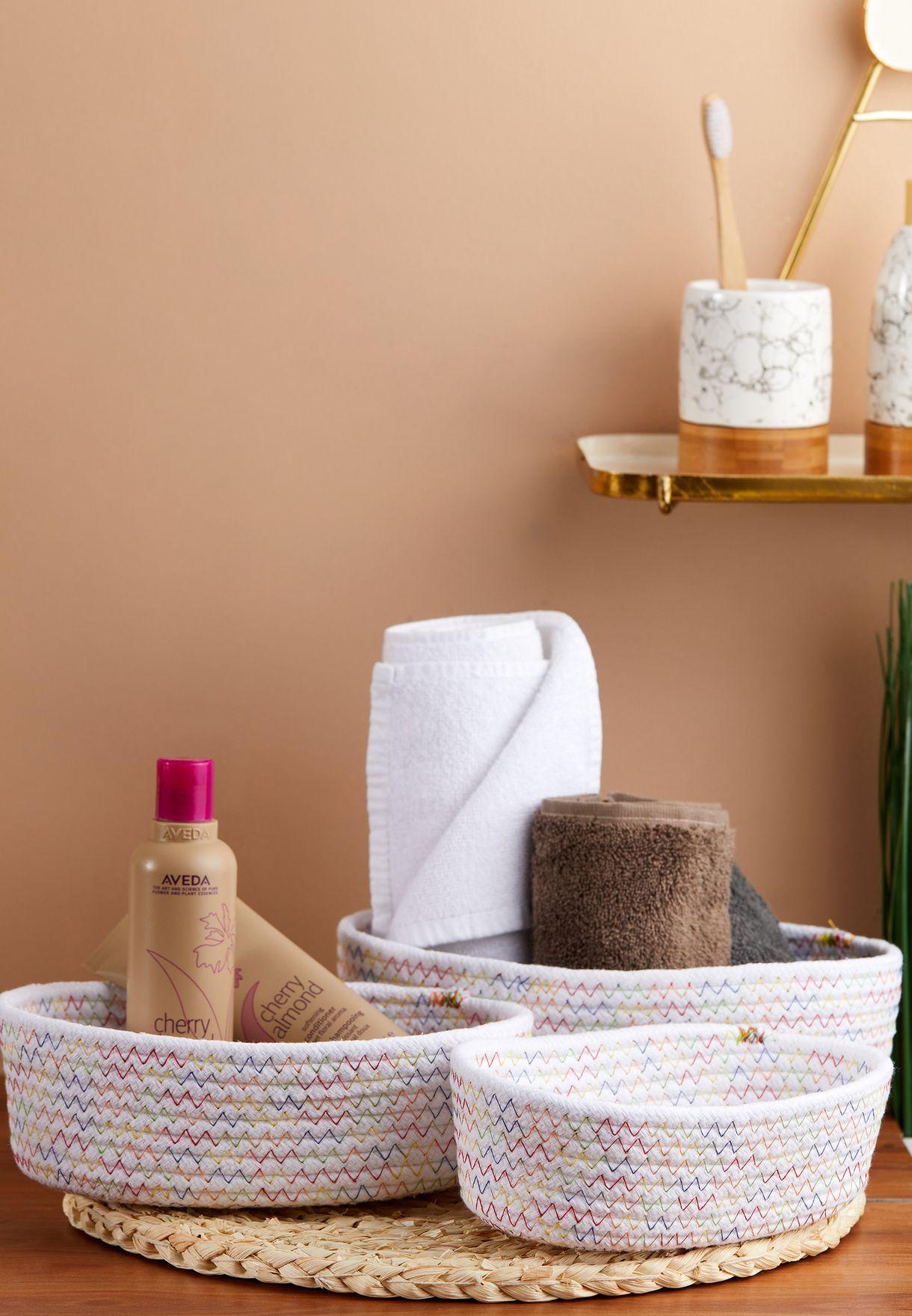 Set of Three Storage Baskets
