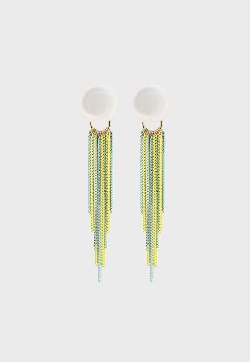 Faux Pearl Dangling Earrings