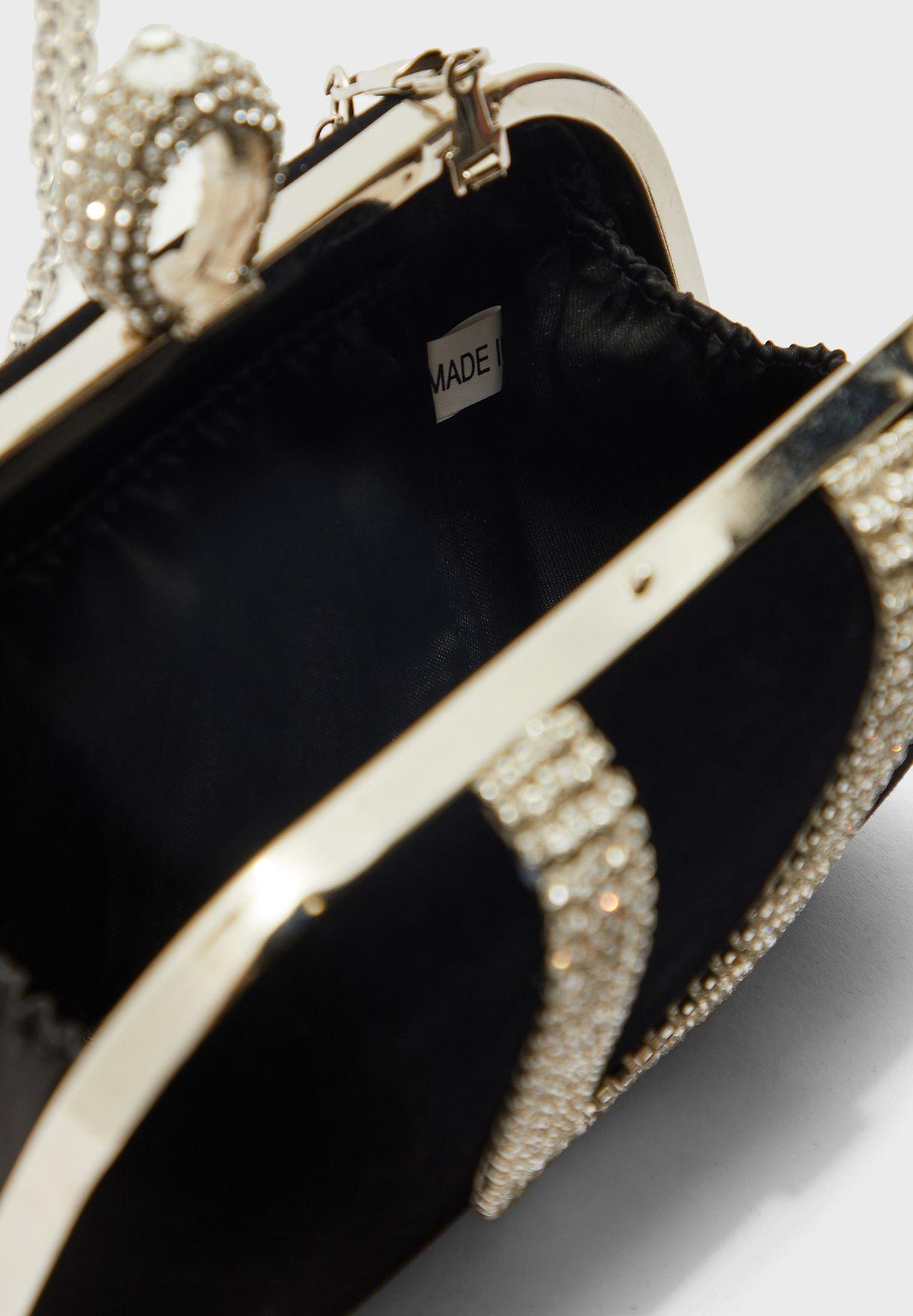 Jewellerd Velvet Clutch Bag