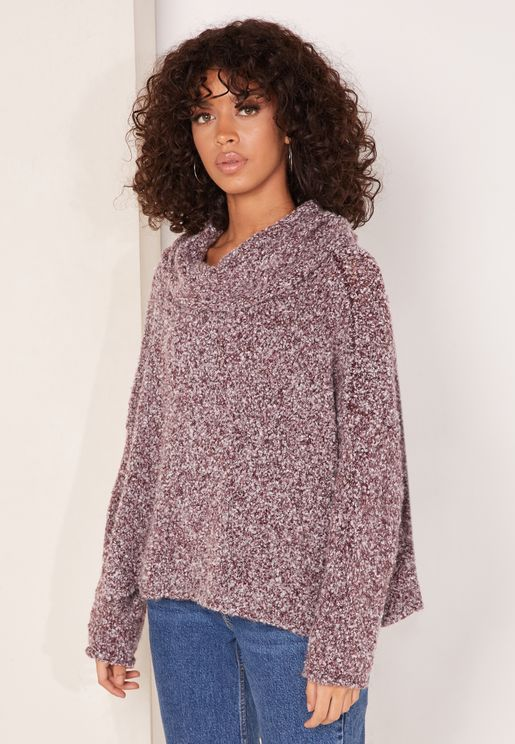 Bff Roll Neck Oversized Sweater