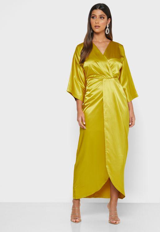فستان لف ساتان