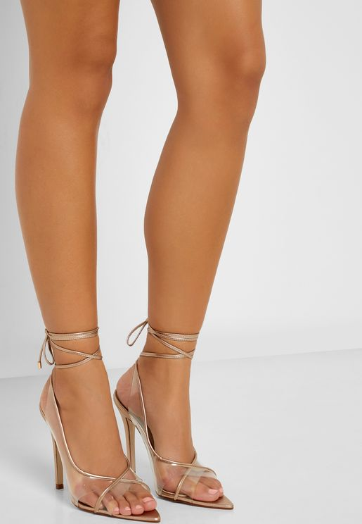 Sandals With Metallic Trim Details