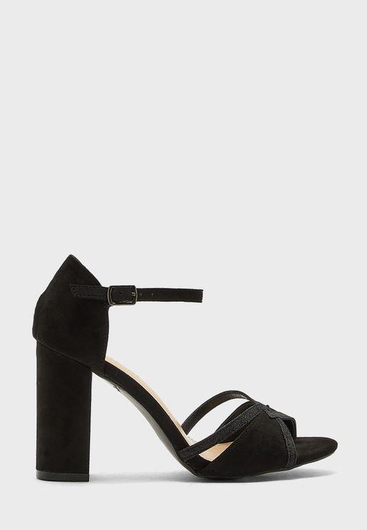 Velvet High Heel Sandal