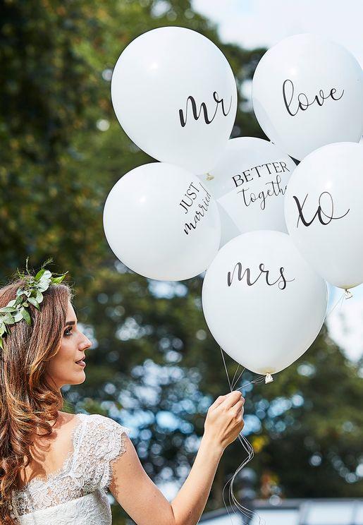 مجموعة بالونات حفلات الزفاف