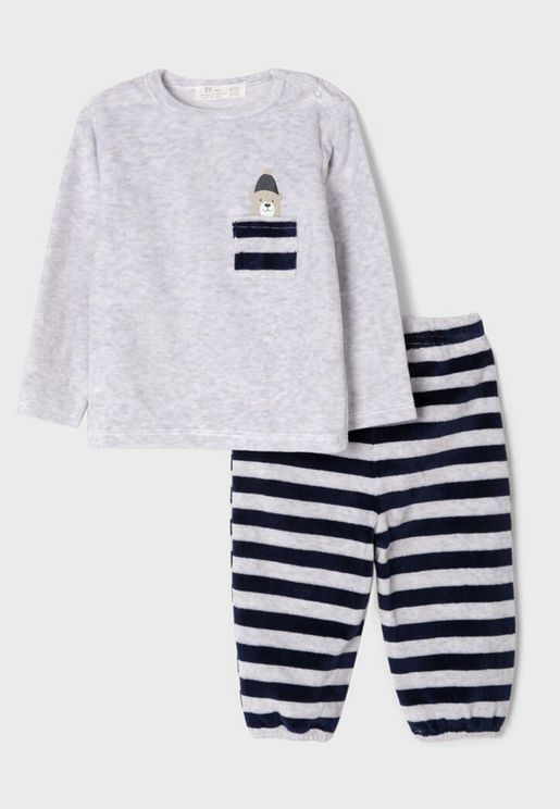 Infant Striped Pyjama Set