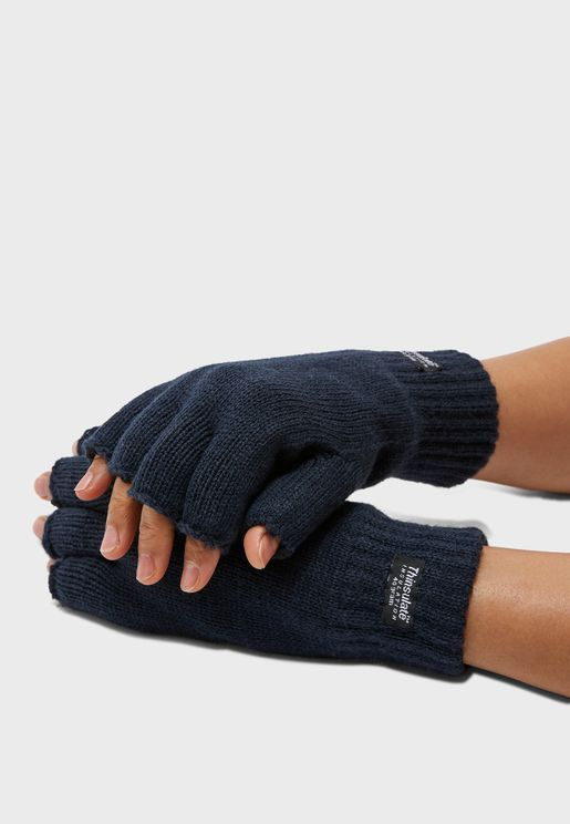 Mens Thinsulate Fingerless Gloves