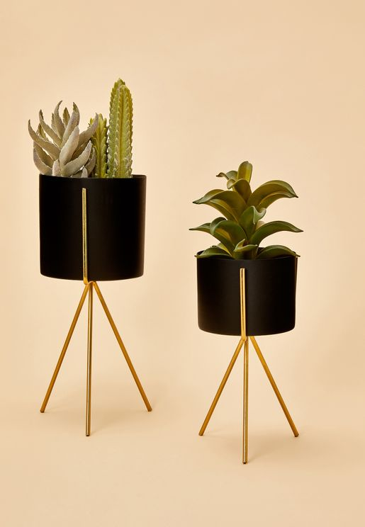 Plant Pot Set With Stand