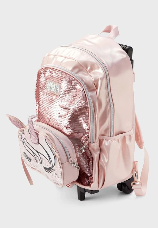 Kids Unicorn Shaky Rolling Backpack