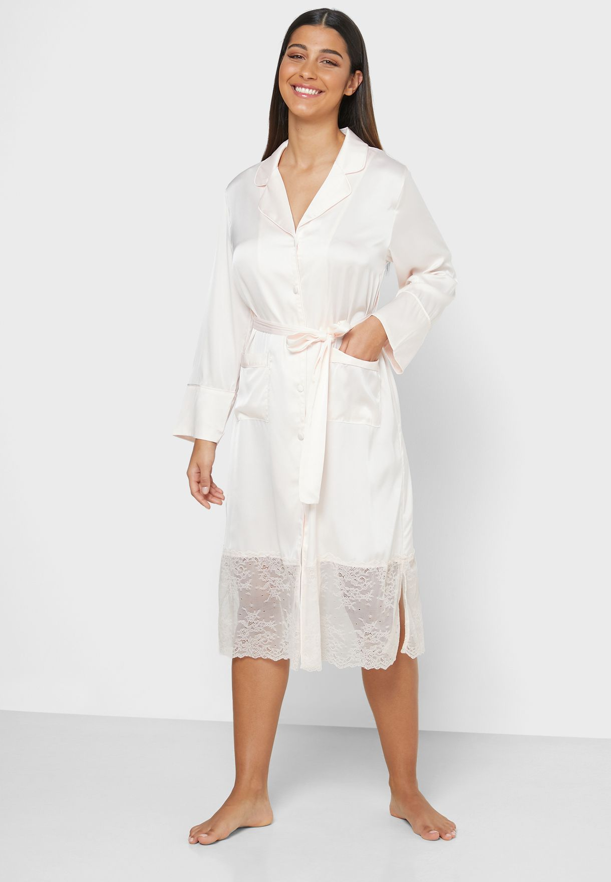Self Tie Shirt Nightdress