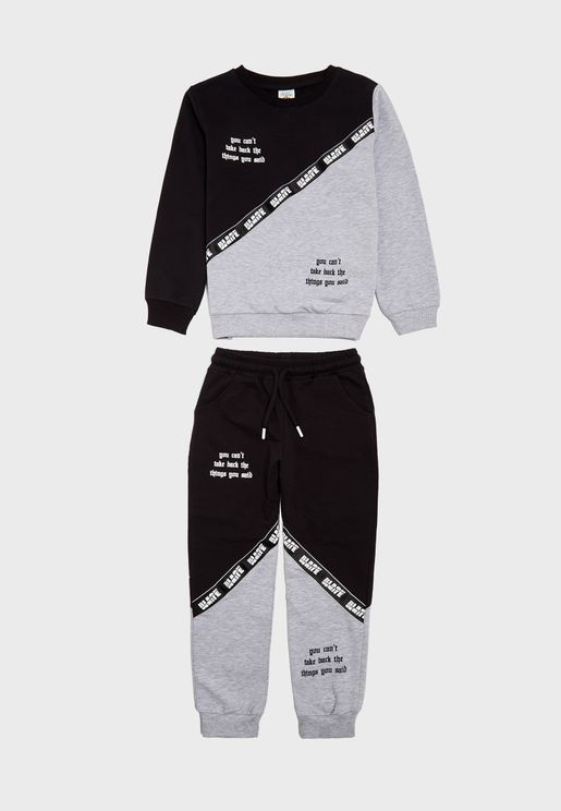 Kids Color Block Track Suit