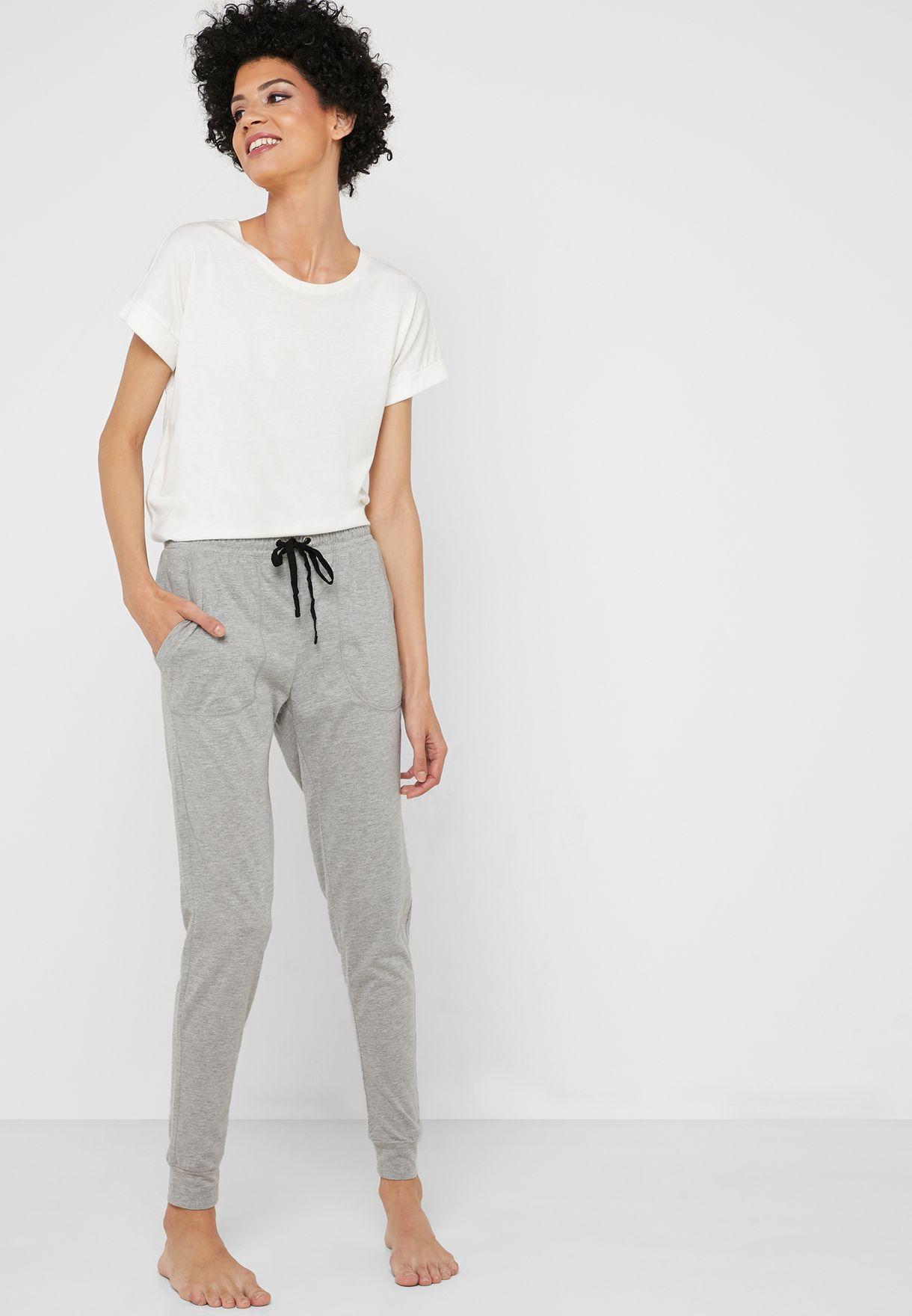 Tie Waist Pyjama Sweatpants