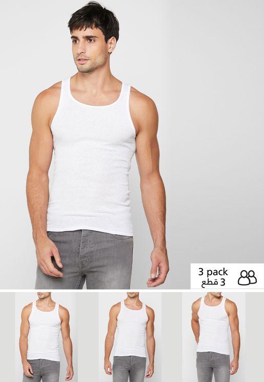 3 Pack Essential Vest