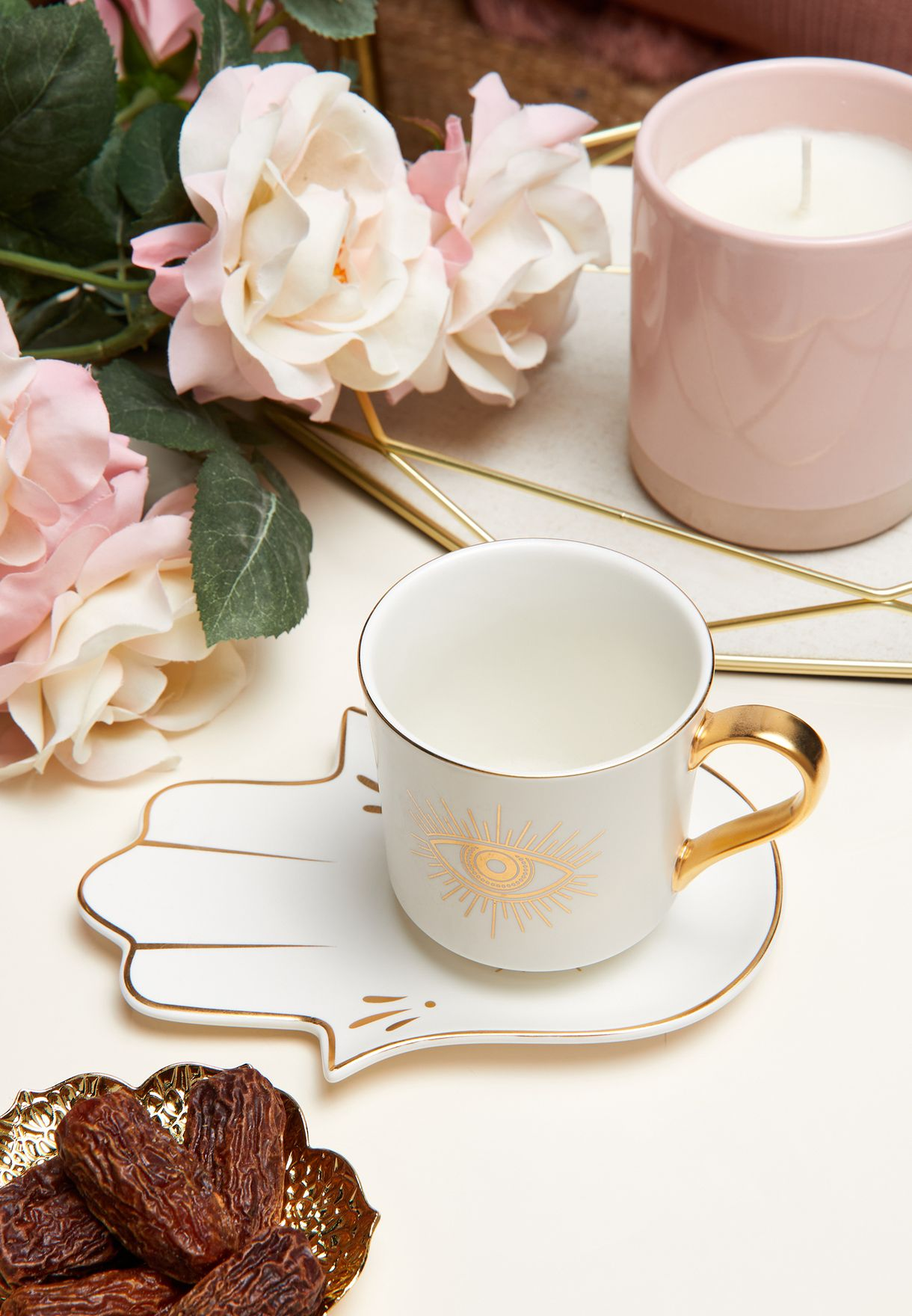 Hamsa Print Mug & Saucer