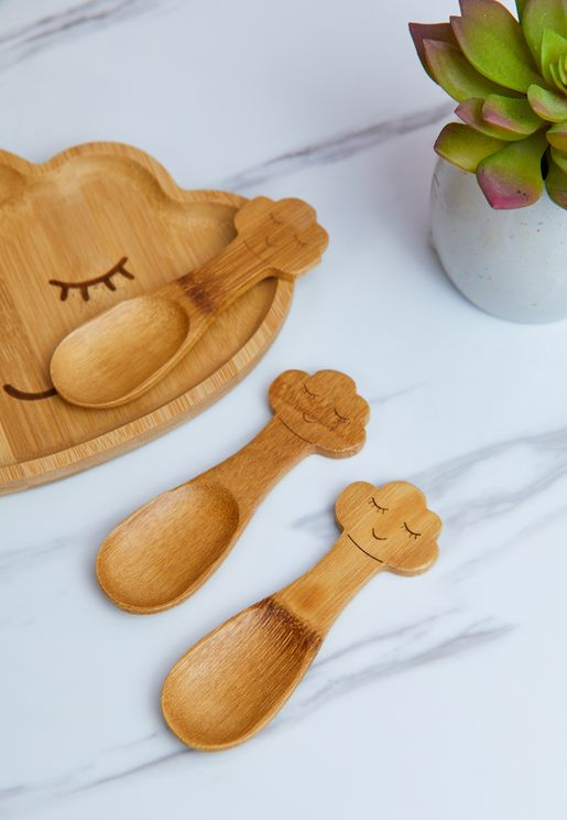 Bamboo Cloud Spoons - Set Of 3