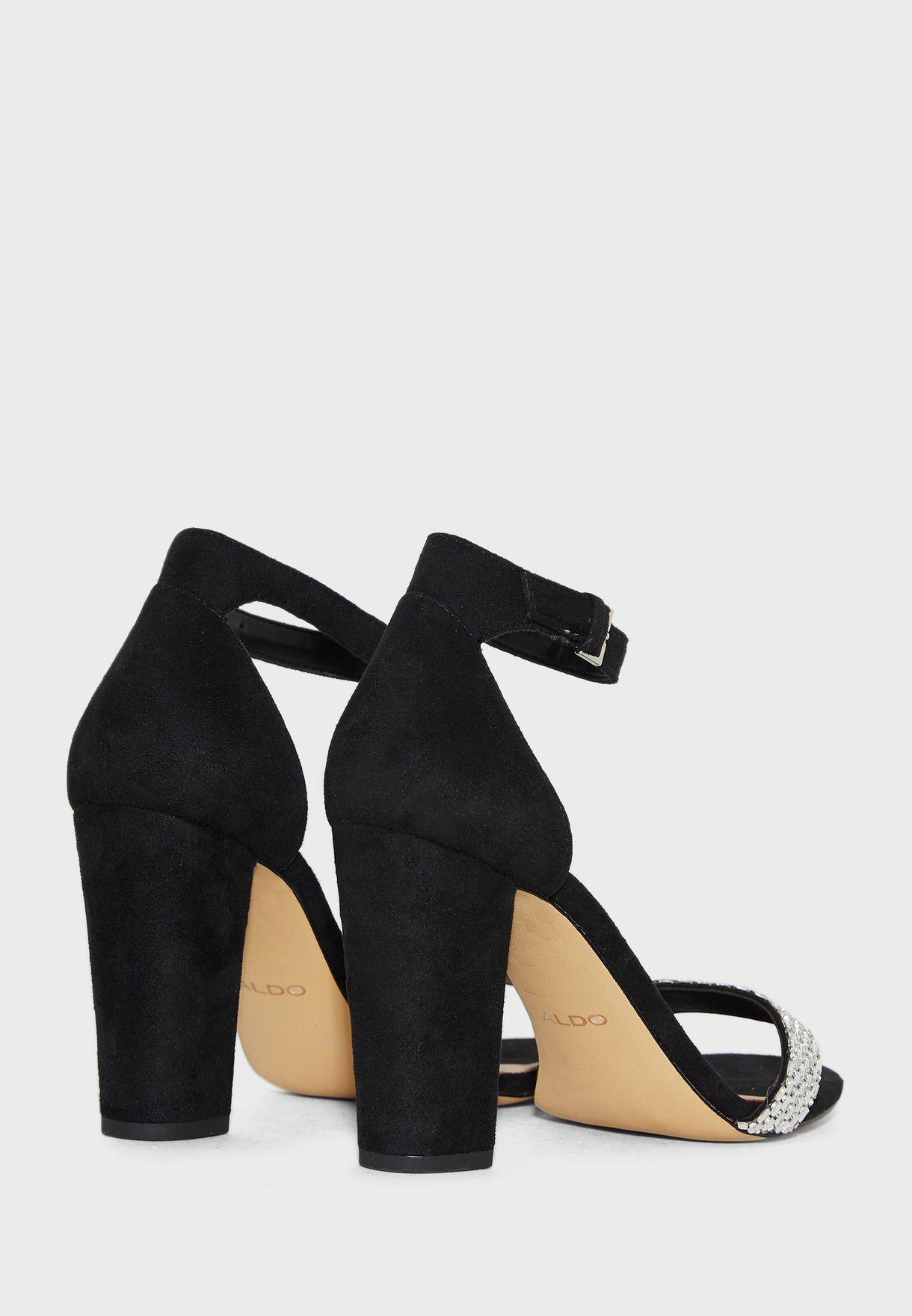Jeraybling Ankle Strap Sandal - Black