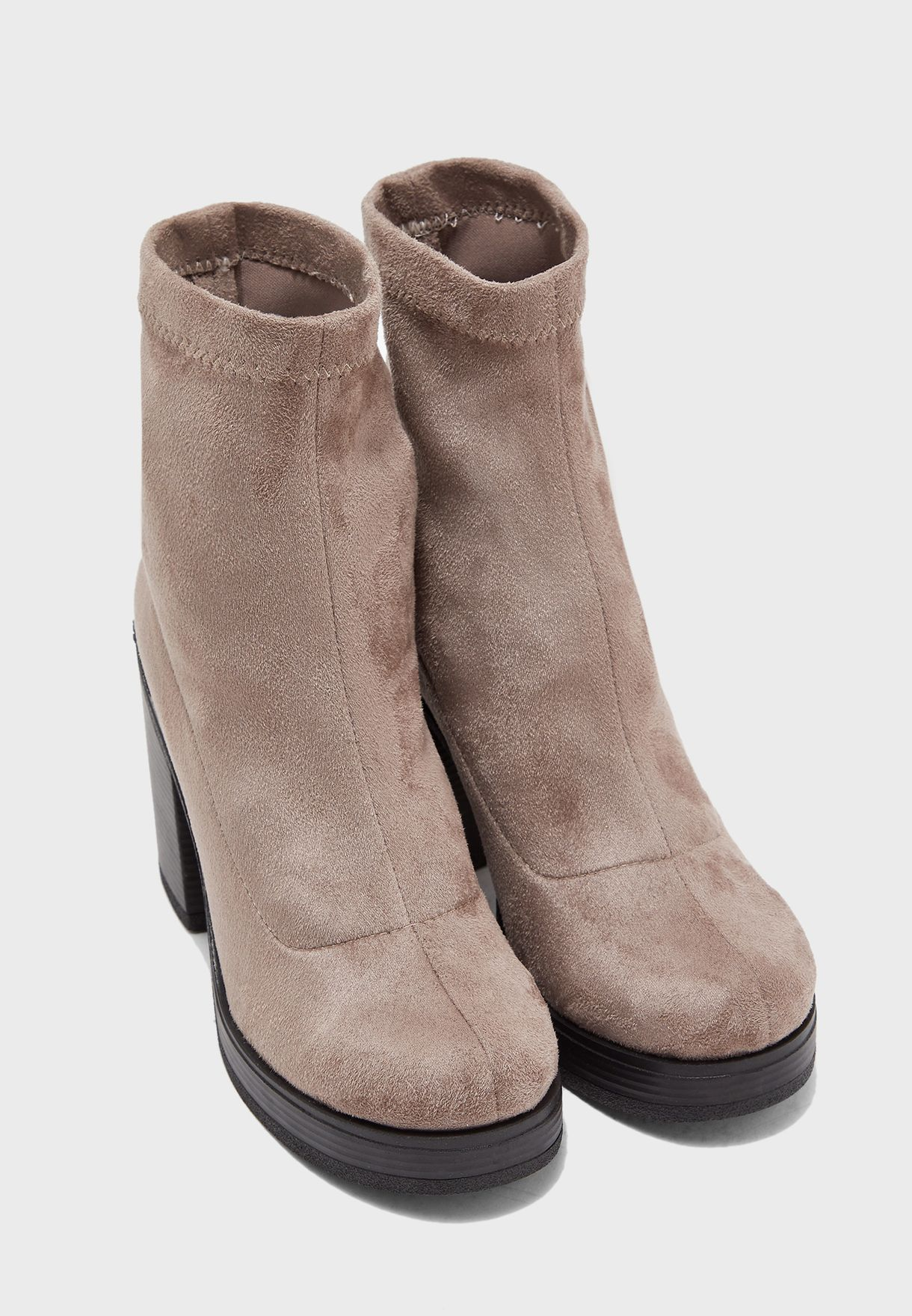 Stretch Block Heel Boot