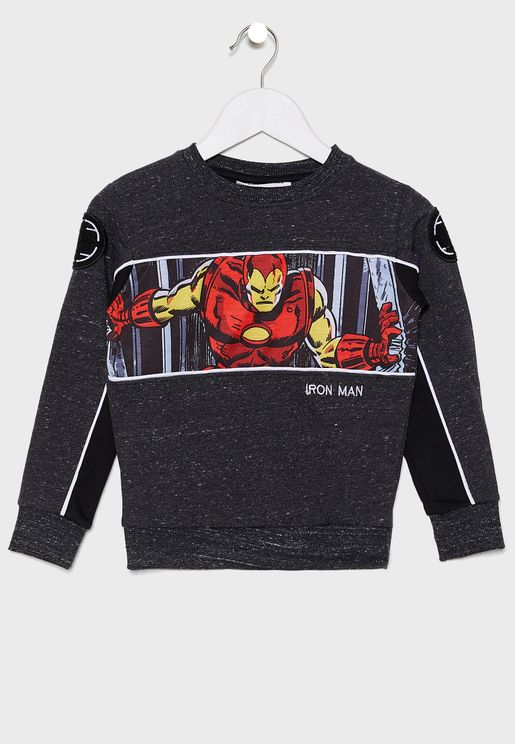 Kids Marvel Iron Man Sweatshirt