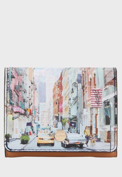 New York Printed Purse