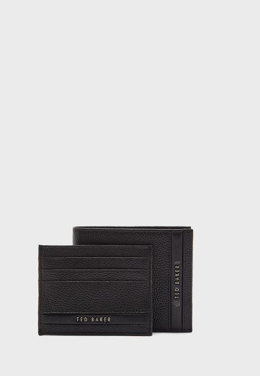 طقم هدايا محفظة نقود وحافظة بطاقات