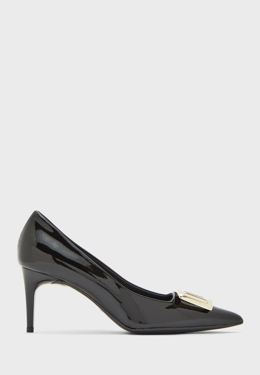 Glossy High Heel Pump