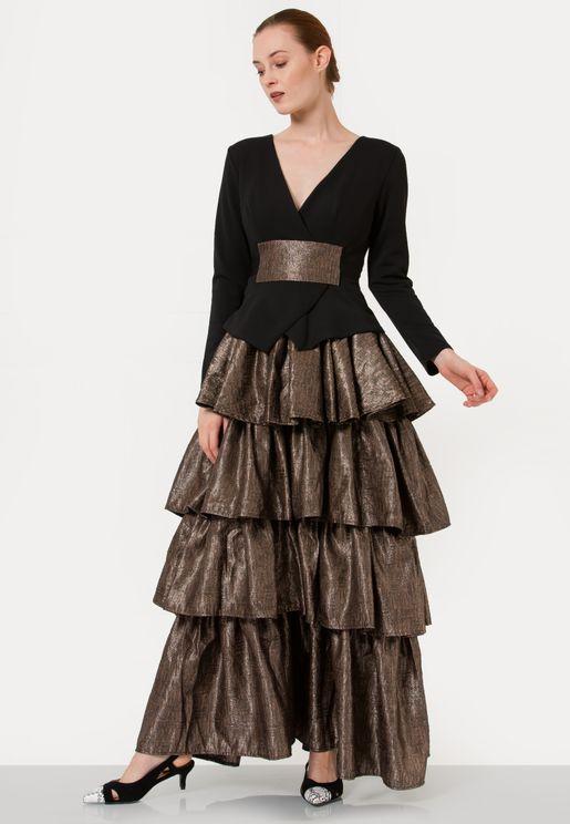 Layered Jacquard Dress