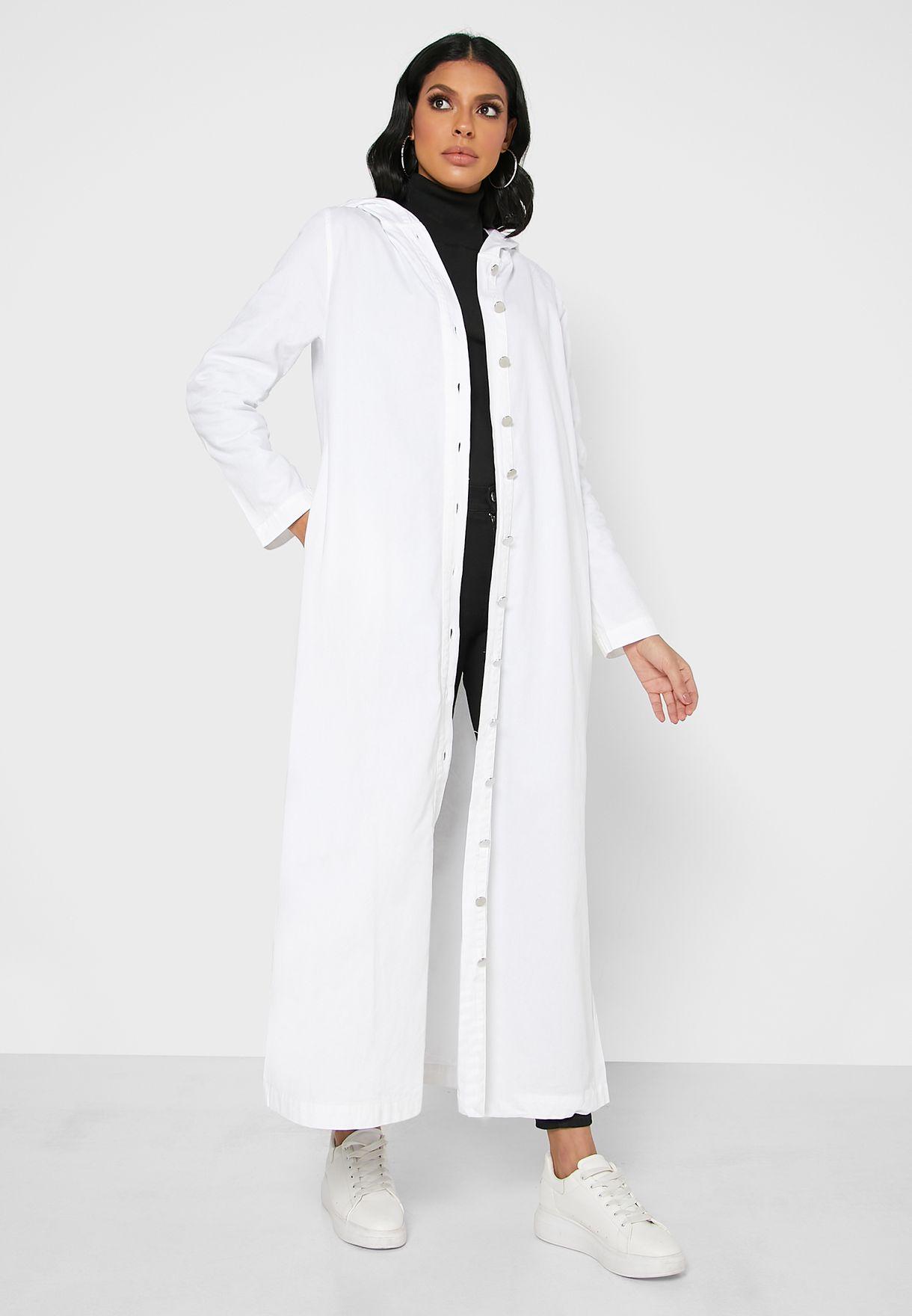 Pocket Detail Hooded Denim Cardigan