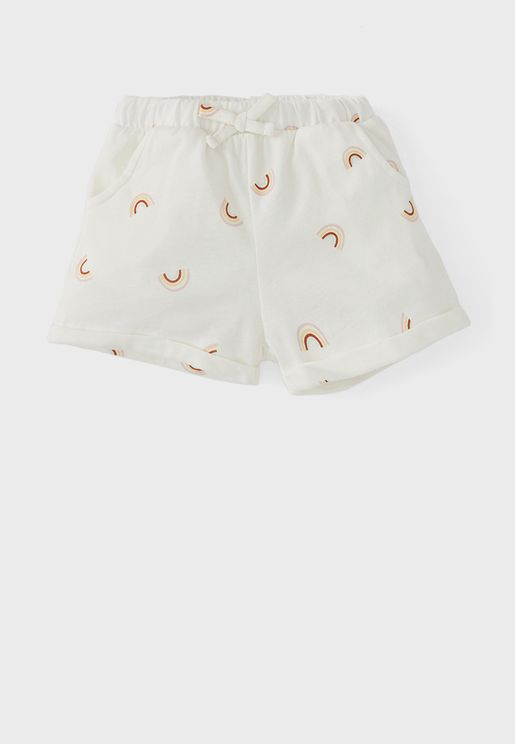 Infant Rainbow Print Shorts