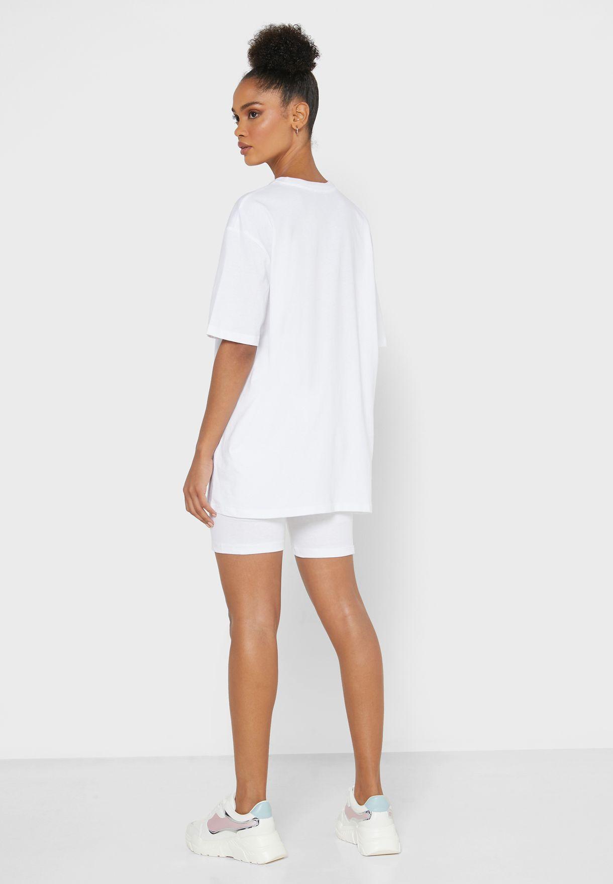 Oversized Graphic T-Shirt Shorts Set