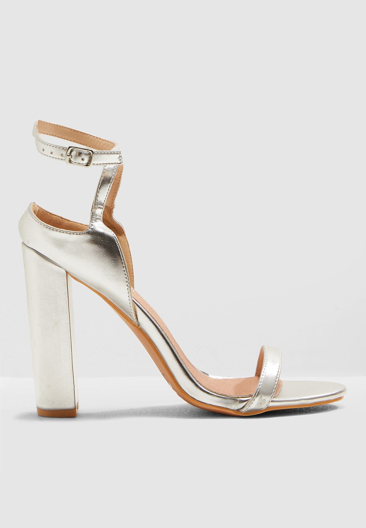 Wide Fit Farrah Block Barely There Sandal