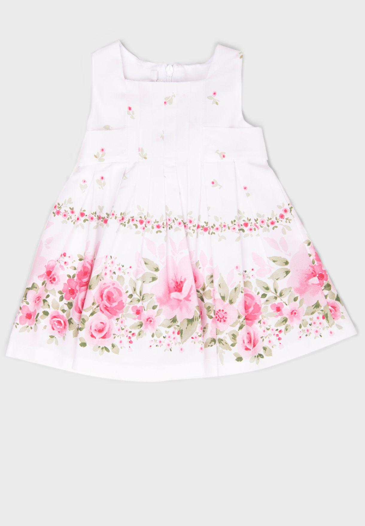 فستان مطبع بدون اكمام للاطفال