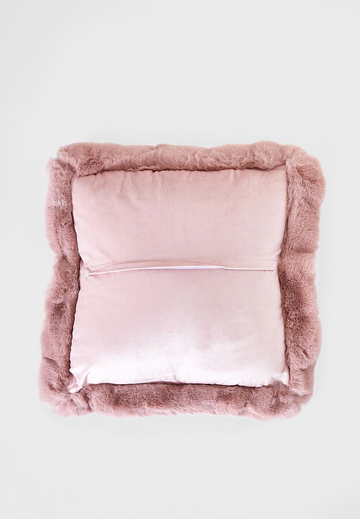 Fur Lined Edge Pink Cushion