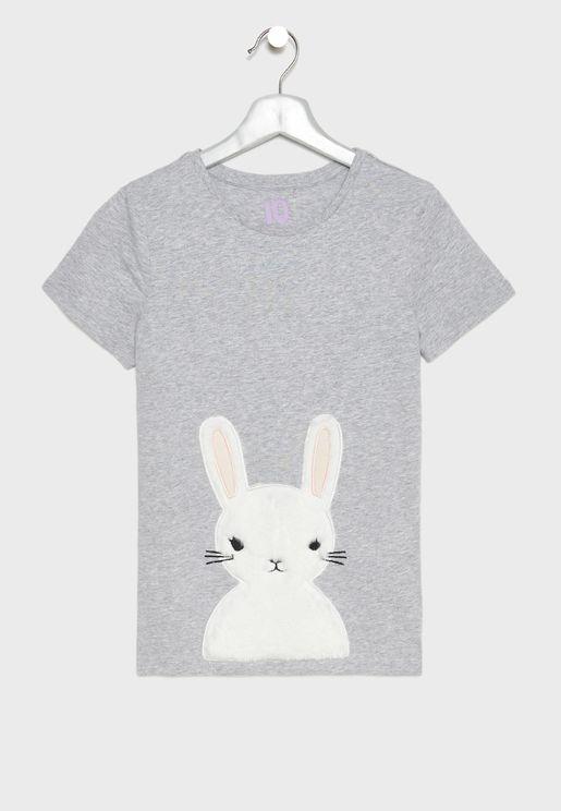 تيشيرت بطبعة ارنب