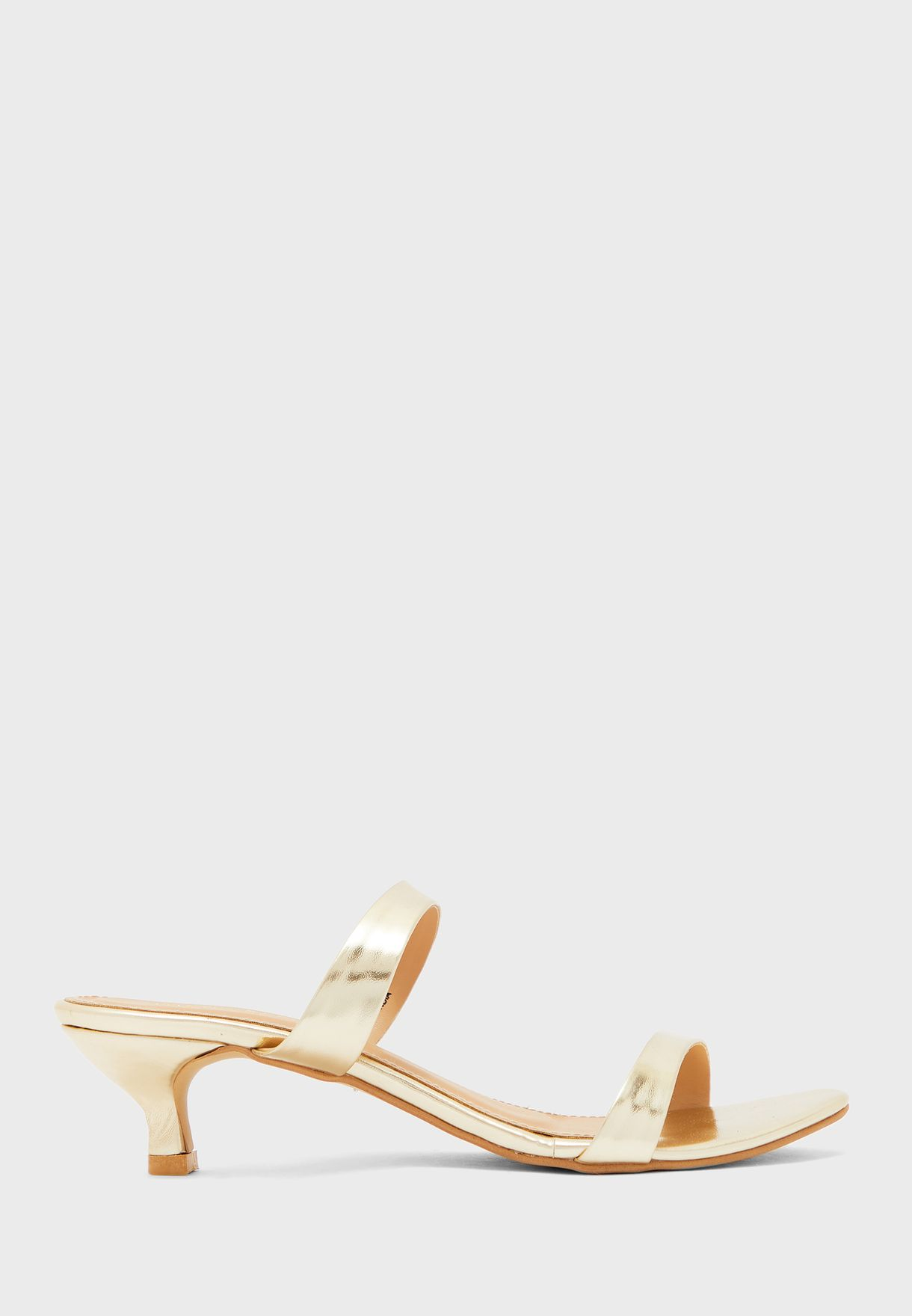 Buy Austin Reed Gold Double Strap Mid Heel Sandal For Women In Mena Worldwide Aullhs37dff
