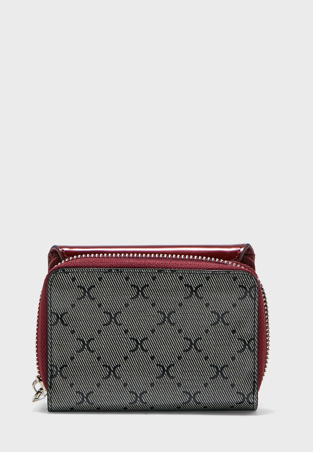 Flap Over Zip Through Purse