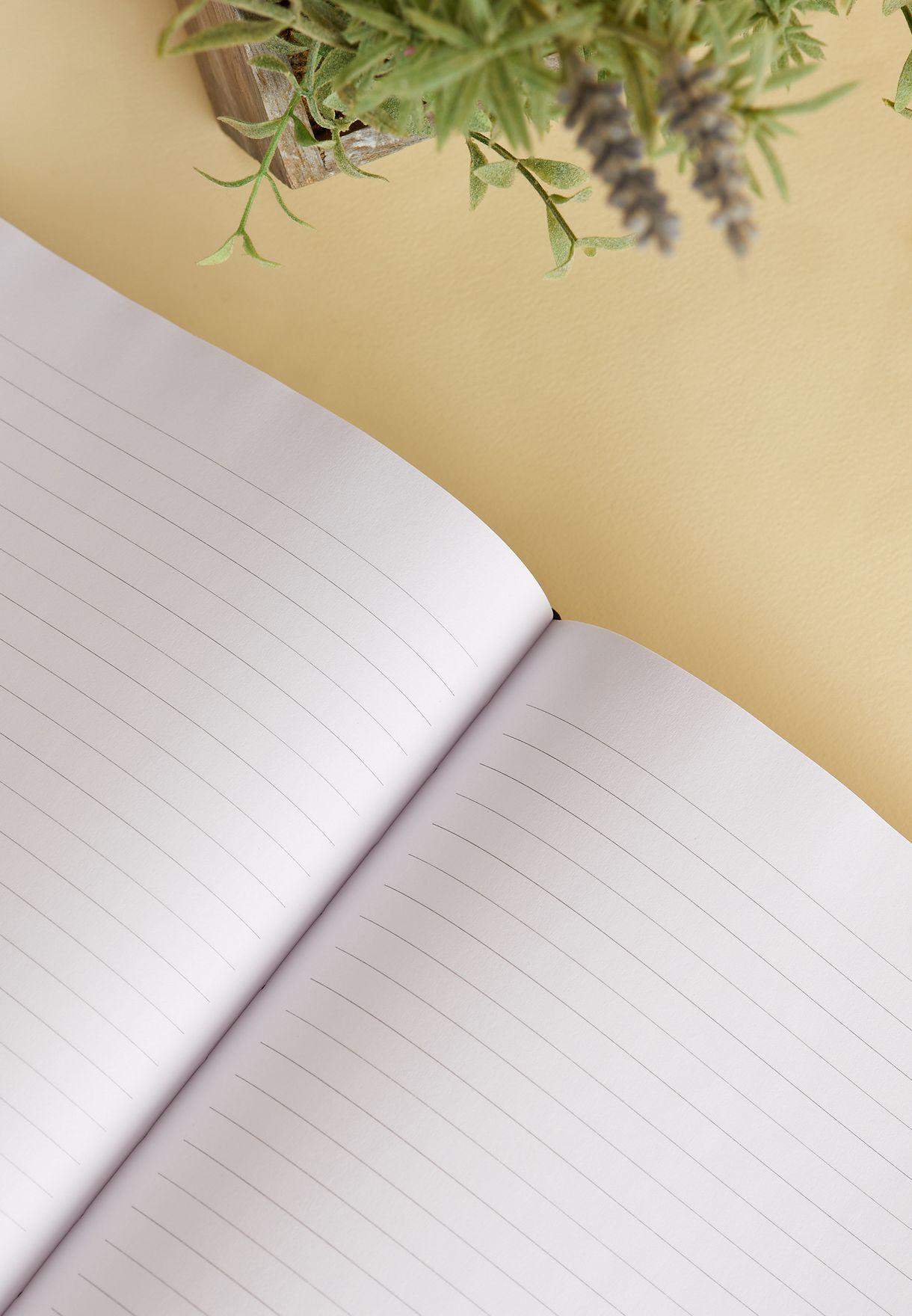 A4 Black Glitter Notebook