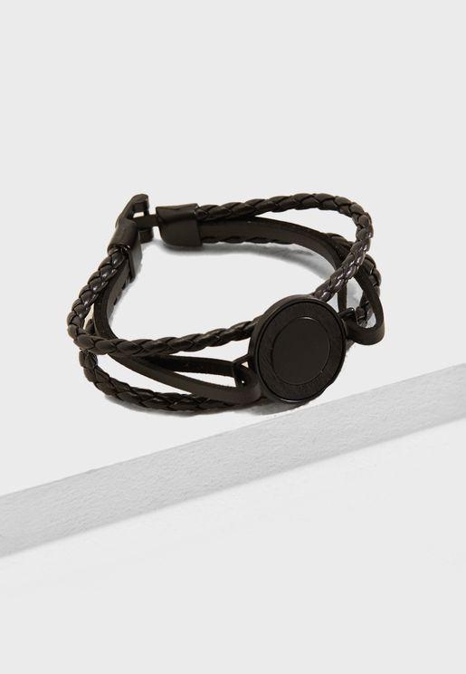 Matt Braided Layered Bracelet