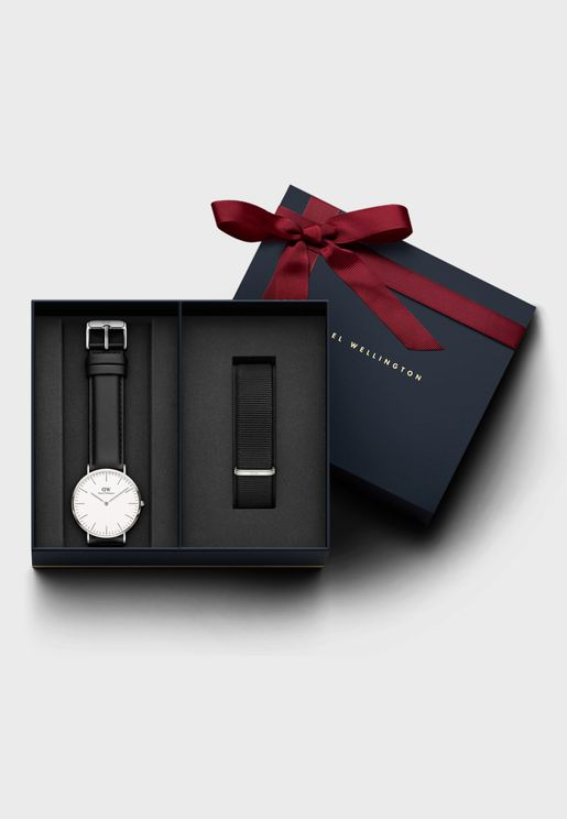 DW00500284 Classic Sheffield + Cornwall Strap Set