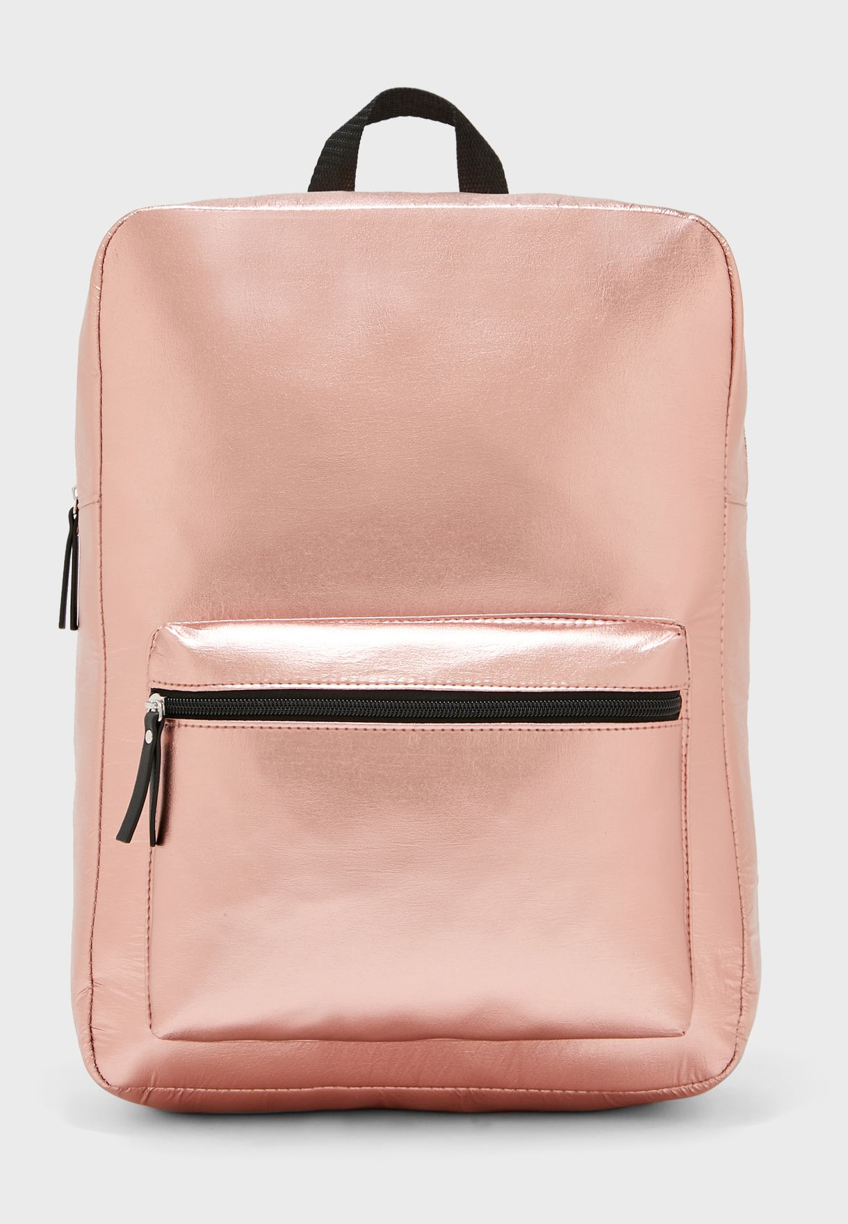 Backpack With Metallic Finish
