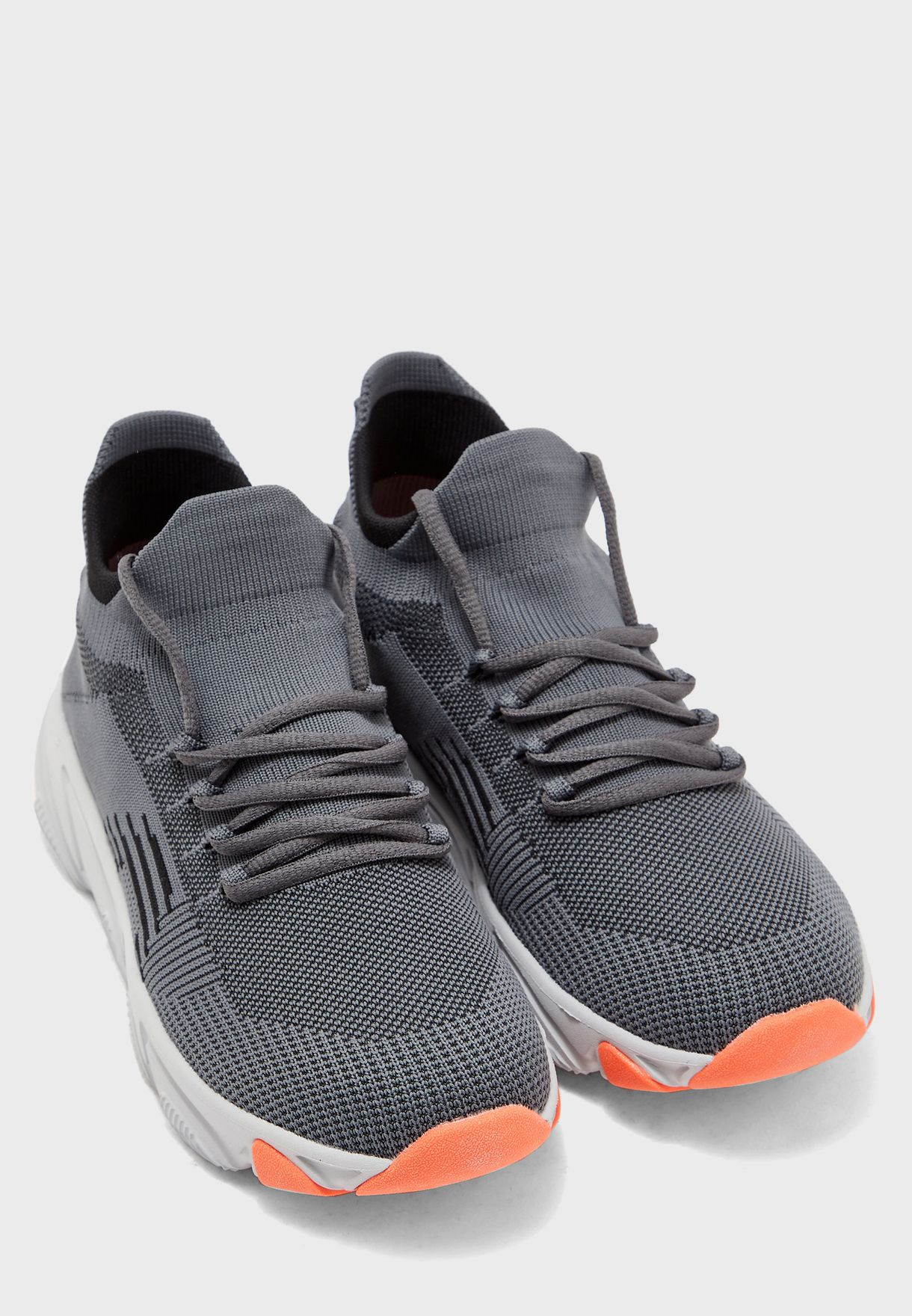 Mid Top Knitted Comfort Sneakers