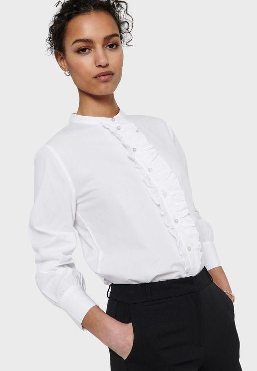 Front Frill Detail Shirt