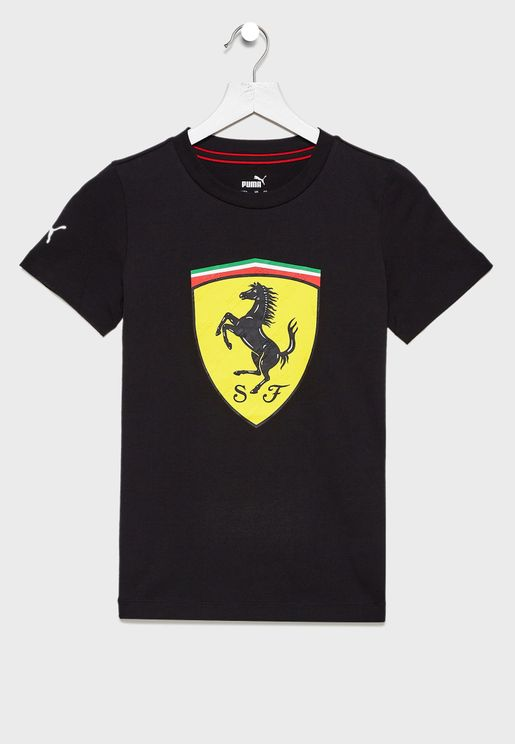 Kids Ferrari Race Big Shield T-Shirt