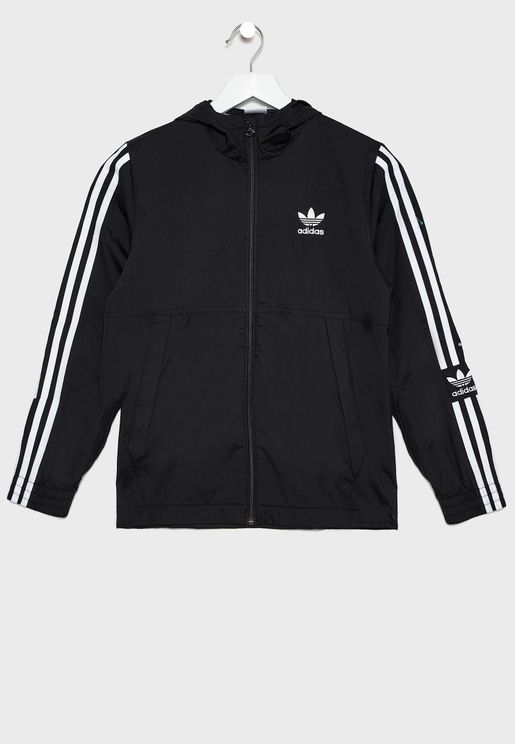 Youth Lock Up Hooded Windbreaker Jacket