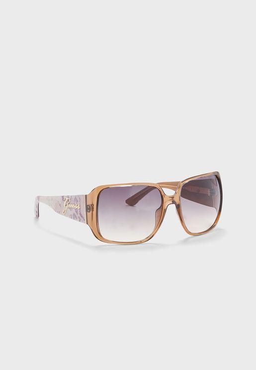 نظارة شمسية كبيرة بعدسات مربعة