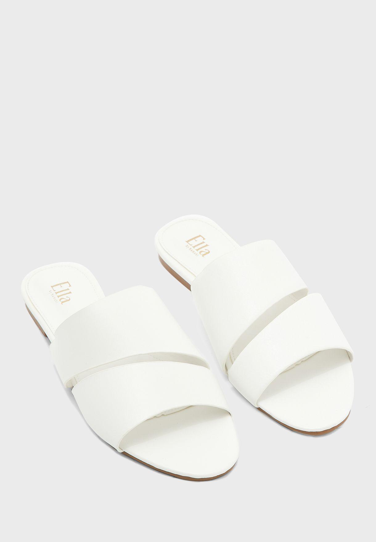Cutout Detail Flat Sandal