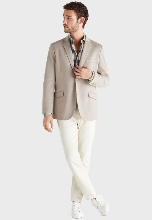 Elbow Patch Relaxed Blazer