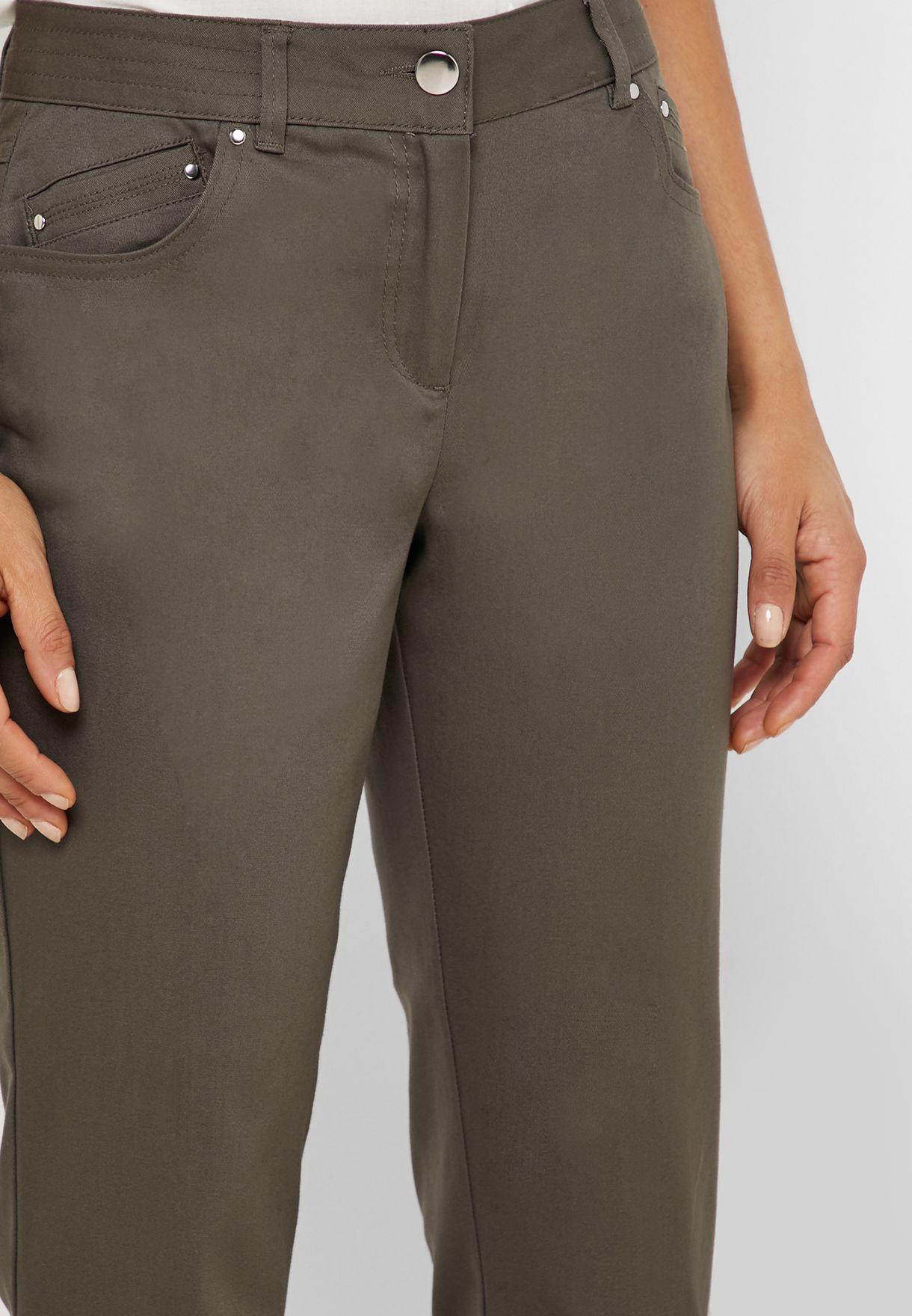 Straight Crop Pants