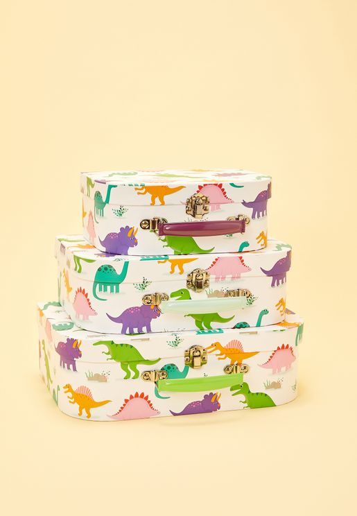 3 Pack Dinosaurs Suitcase