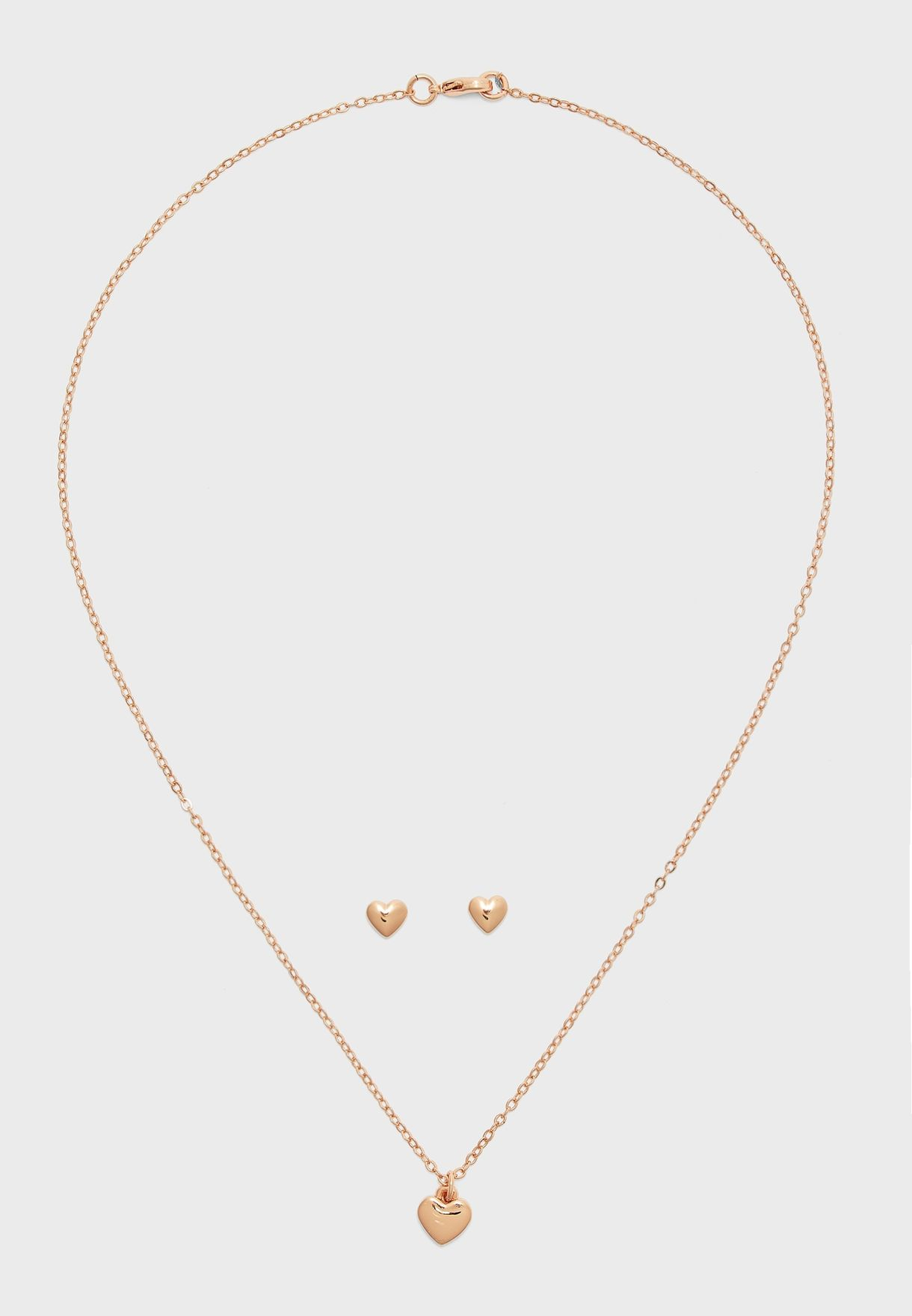 Amoria Sweetheart Necklace+Earrings Set